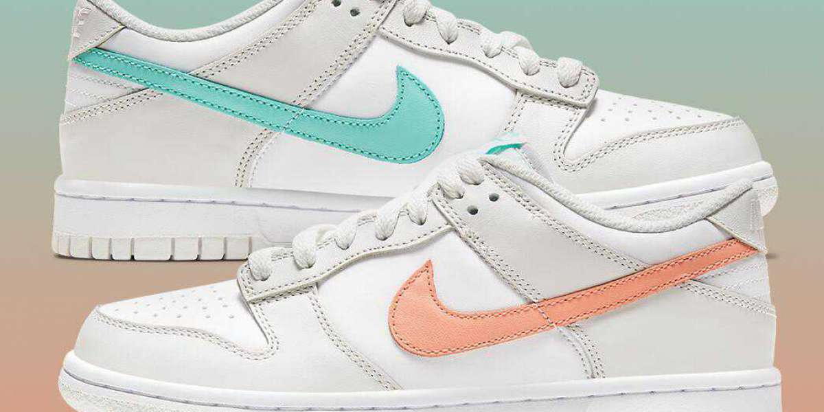 2021 Nike Dunk Low GS Coming With Mismatched Tropical Swooshes